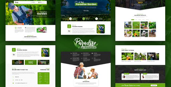 Paradise Garden - Gardening and Landscaping HTML Template - Business Corporate