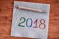 2018 handwriting on a napkin - PhotoDune Item for Sale