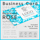 Business Card Design Collection. Engraved Rose. 6000 in 1