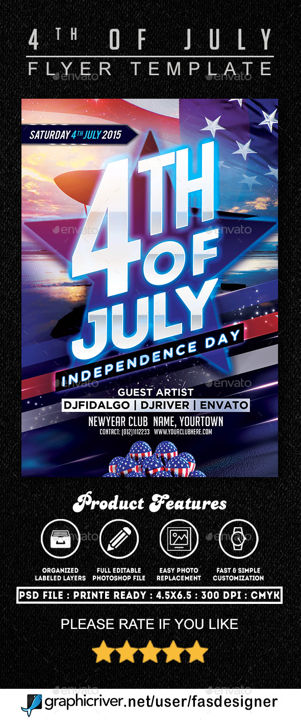 GraphicRiver 4th of July Flyer Template 20241051