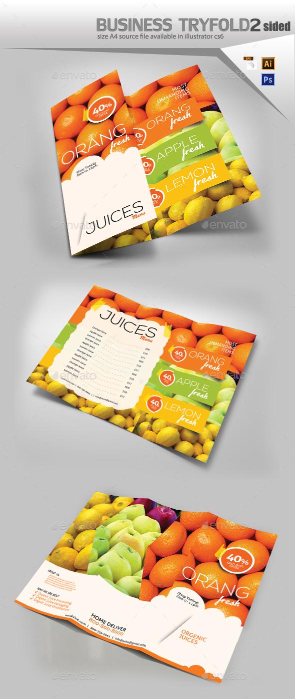 Juice Shop Tri Fold - Brochures Print Templates