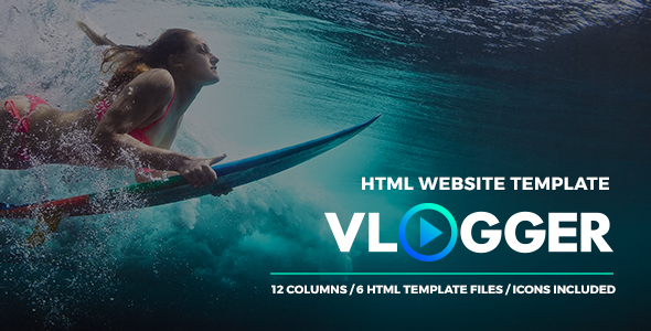 Image of Vlogger - HTML Video Website Template for Youtubers, Online Courses and Video Makers