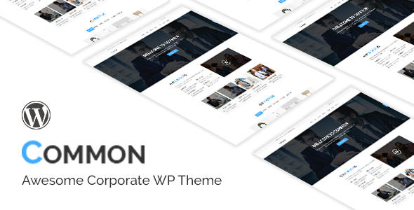 Common- One Page and Multipages WordPress Theme (Business) images