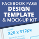 Facebook Page Template & Mock-up Kit