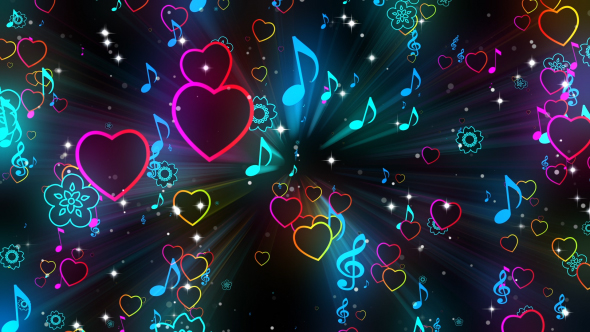 Neon Music Notes Wallpaper: Music Notes Background By MiniMultik