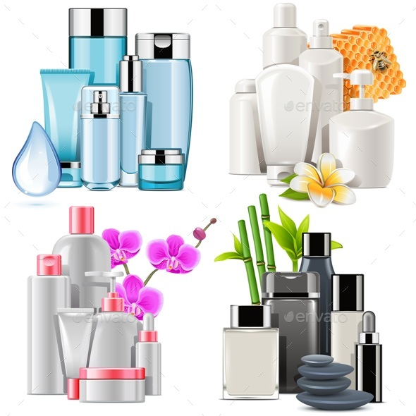 Vector Cosmetic Products - Health/Medicine Conceptual