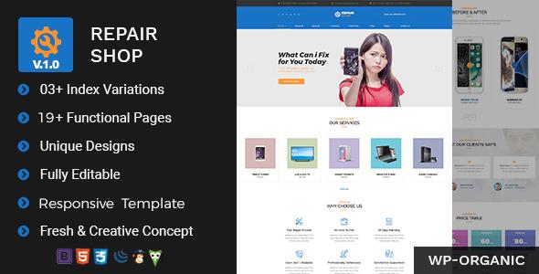 Repair Shop – Mobile & Gadget Repairing HTML Template (Technology) images