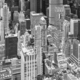 Black and white aerial picture of Manhattan skyscrapers, NYC. - PhotoDune Item for Sale