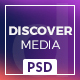 Discover Media - Creative One Page PSD Template - ThemeForest Item for Sale