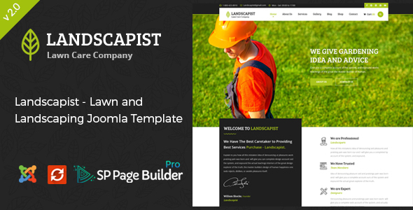 Landscapist - Lawn & Landscaping Joomla Template - Business Corporate