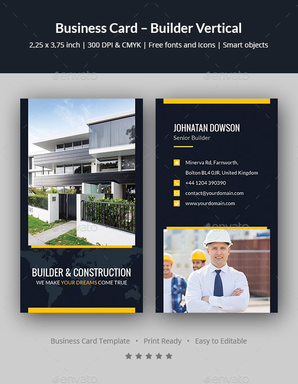 business card builder vertical corporate business cards - Business Card Builder