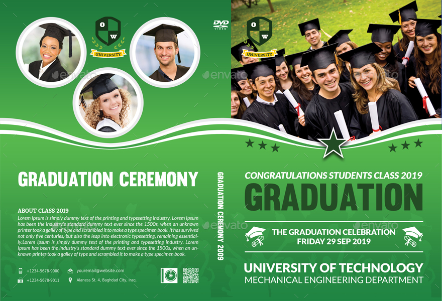 graduation ceremony dvd cover and label template vol 3 by owpictures