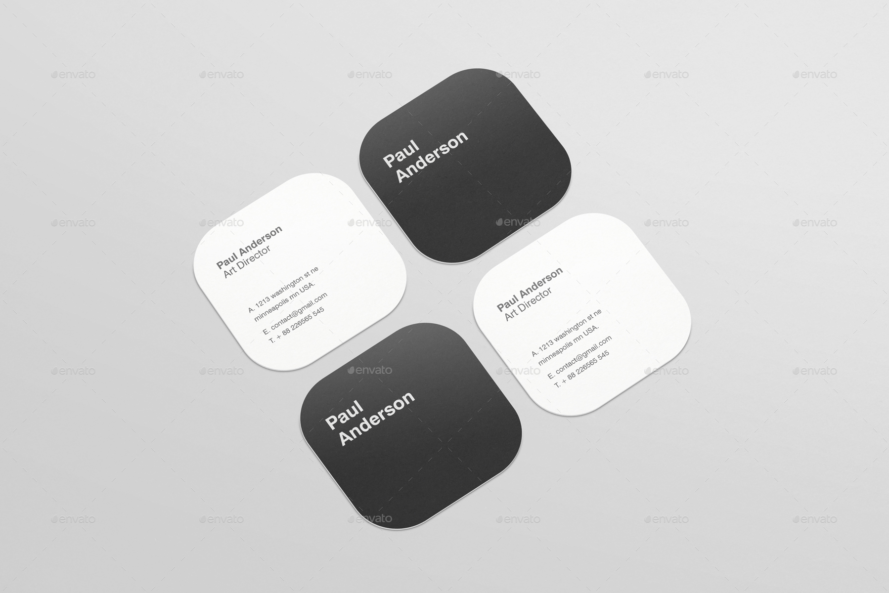 Square business card mockup akbaeenw square business card mockup reheart Images