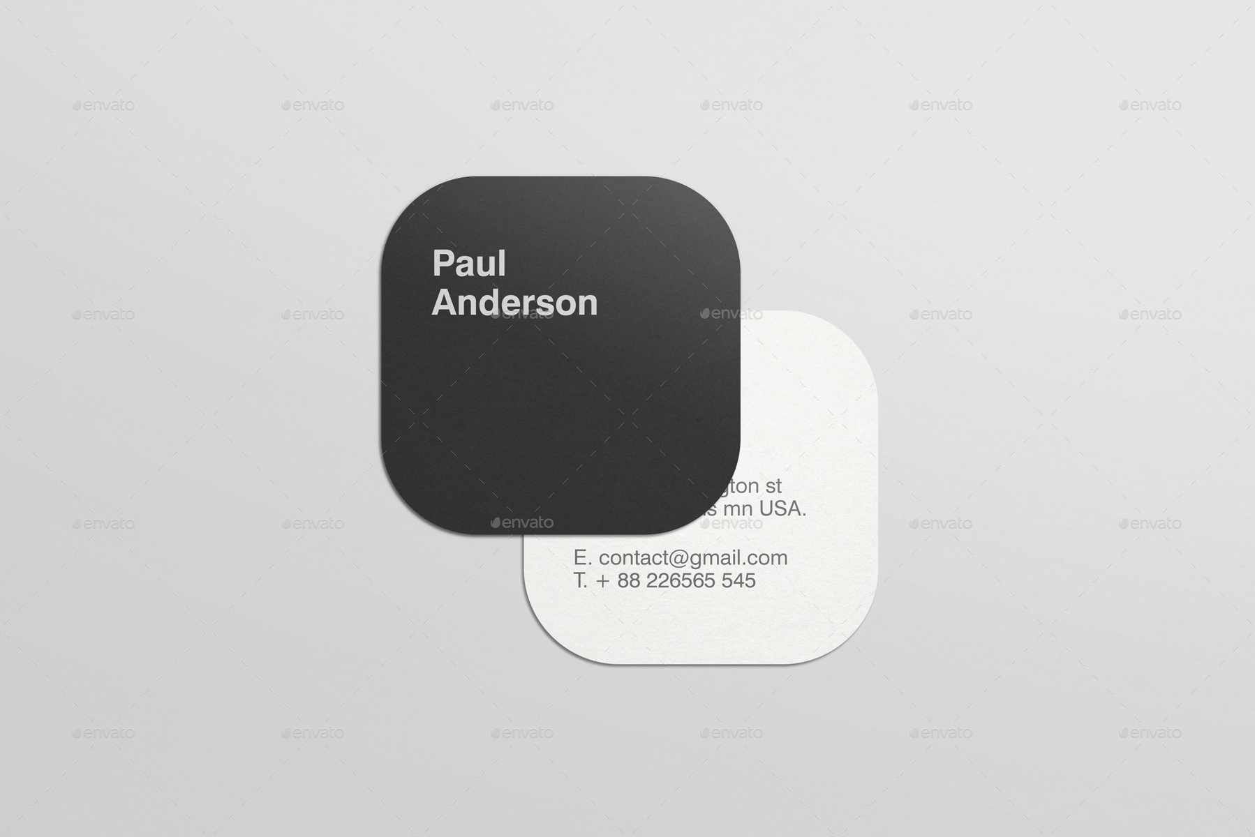 square business card mockups by teptuoi