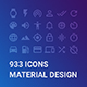 933 Icons Material Design - GraphicRiver Item for Sale