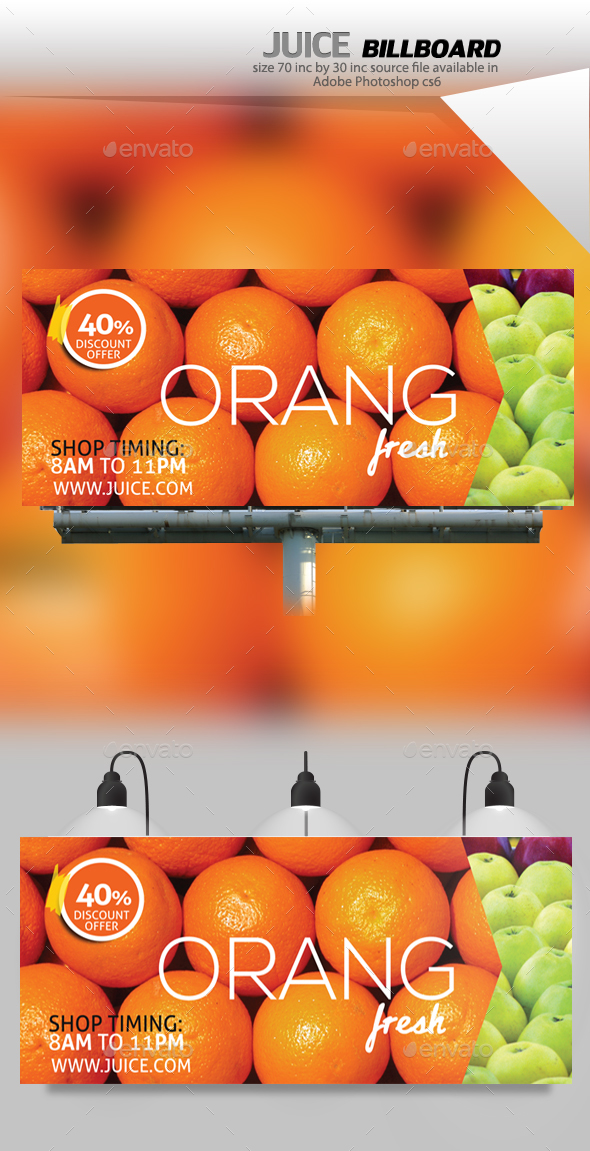 Juice Shop Billboard - Signage Print Templates