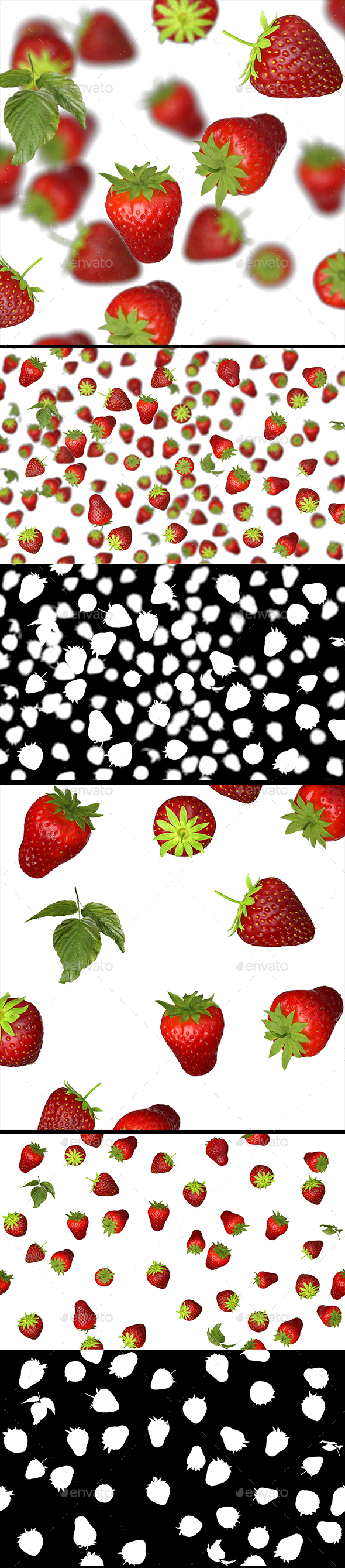 Lots of Strawberries Mini Set - 3D Backgrounds
