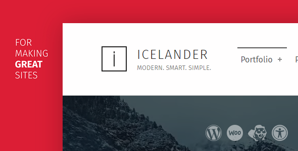 Icelander – Accessible Business Portfolio & WooCommerce WordPress Theme (Portfolio) images