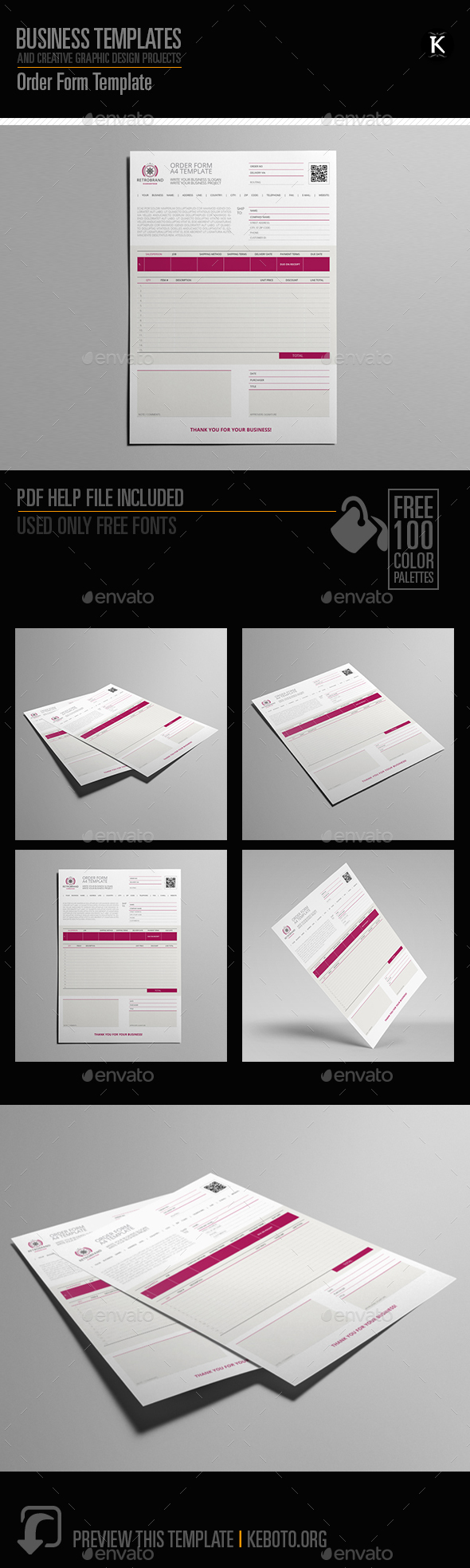 Order Form Template - Miscellaneous Print Templates