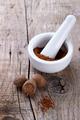 Nutmeg and powder spice