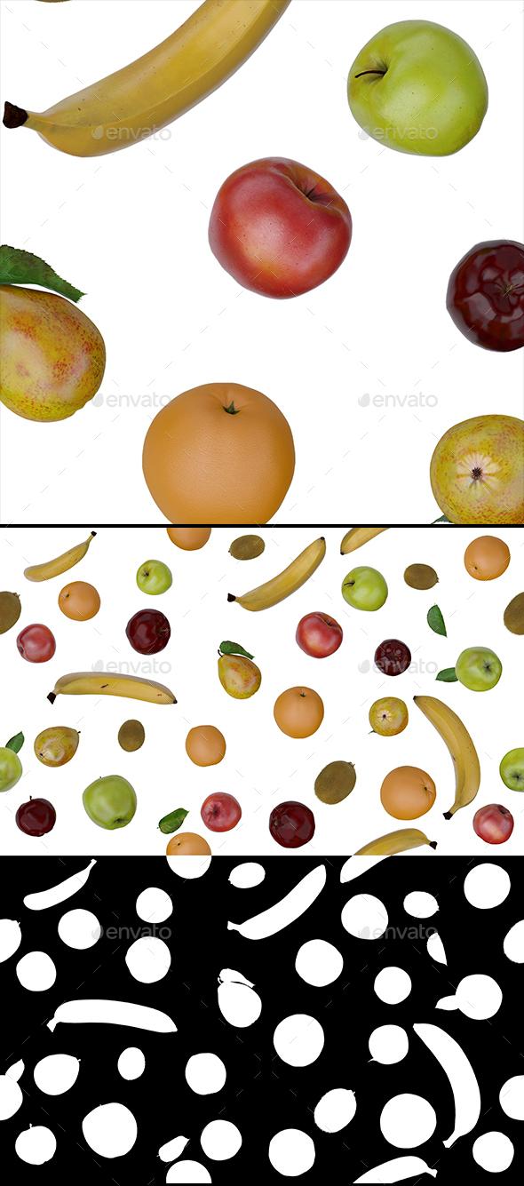Fruit Set - 3D Backgrounds