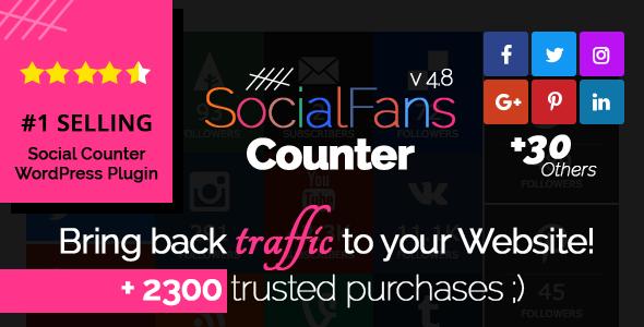 SocialFans - WP Responsive Social Counter Plugin - CodeCanyon Item for Sale
