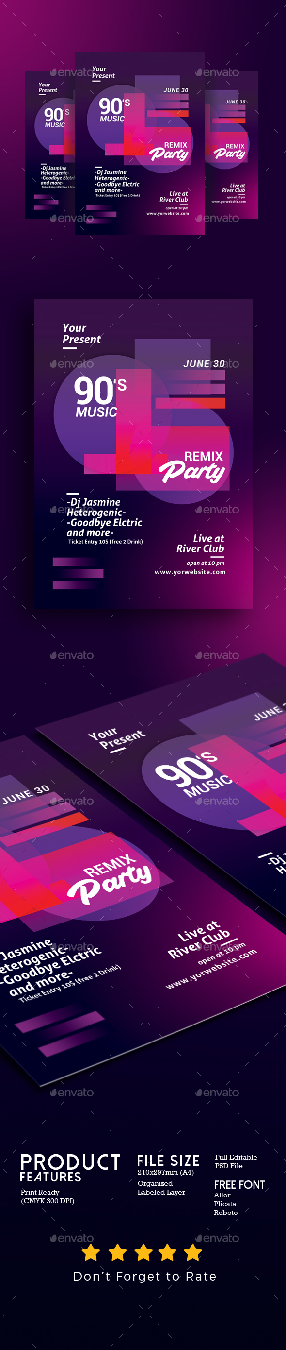 GraphicRiver Minimal Music Flyer Template 20242842