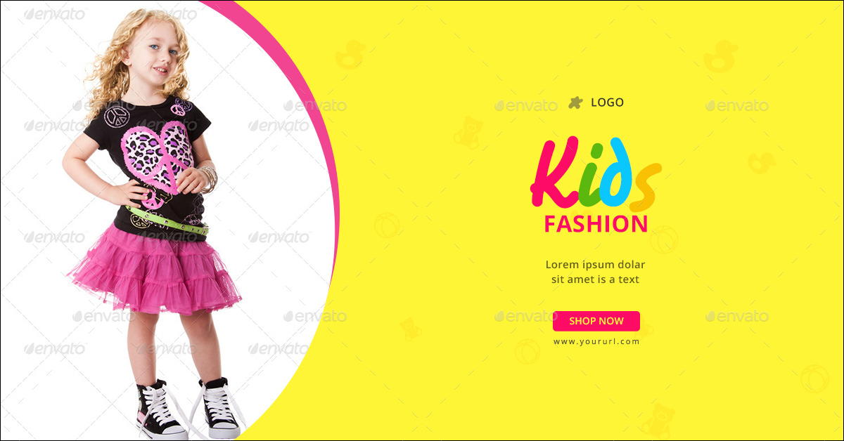 kids fashion banners by doto graphicriver
