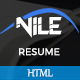 Nile - Personal Portfolio HTML5 Template - ThemeForest Item for Sale