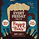 Beer Happy Hour Flyer