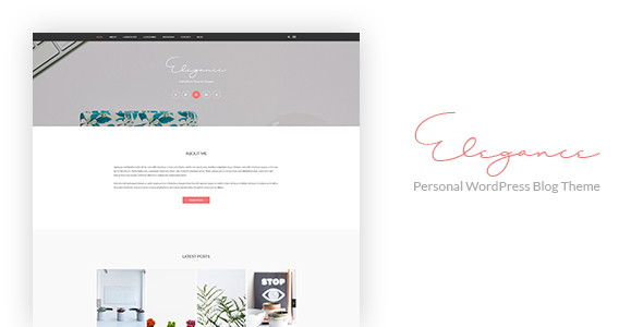 Elegance – Personal WordPress Blog Theme (Blog / Magazine) images