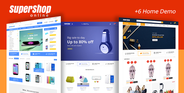 ThemeForest Super Shop Market Store Responsive WooCommerce WordPress Theme 20102142