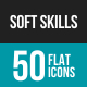 Soft Skills Flat Multicolor Icons