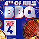 4th of July BBQ Flyer Template