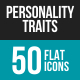 Personality Traits Flat Multicolor Icons