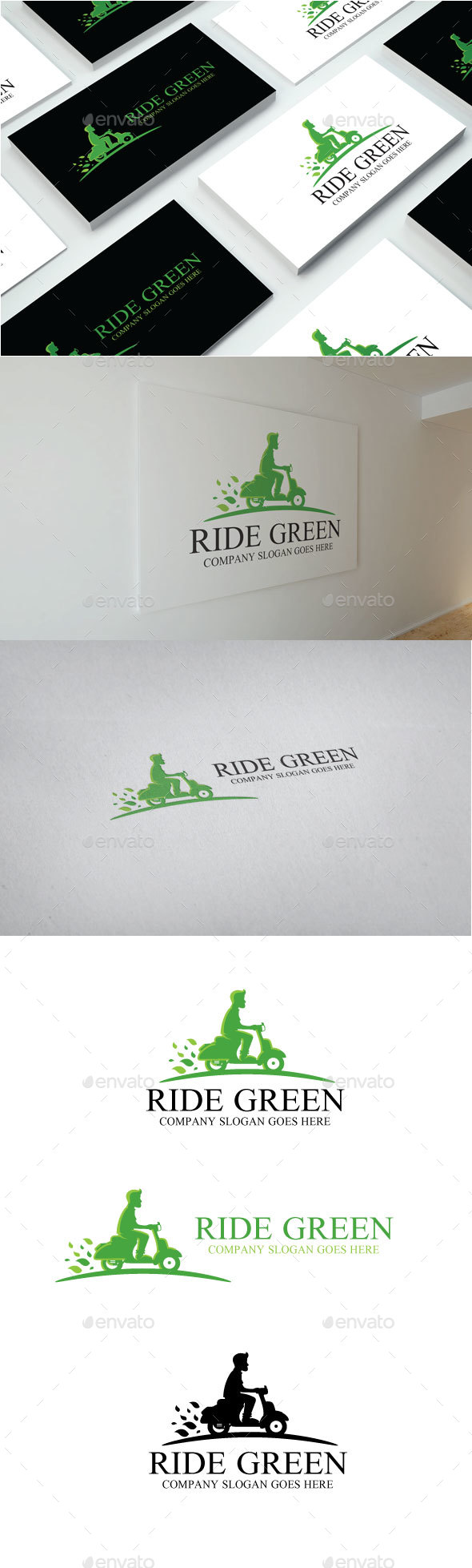Ride Green Logo - Objects Logo Templates