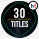 30 Minimal Titles & Lowerthirds - VideoHive Item for Sale
