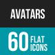 Avatars Flat Multicolor Icons