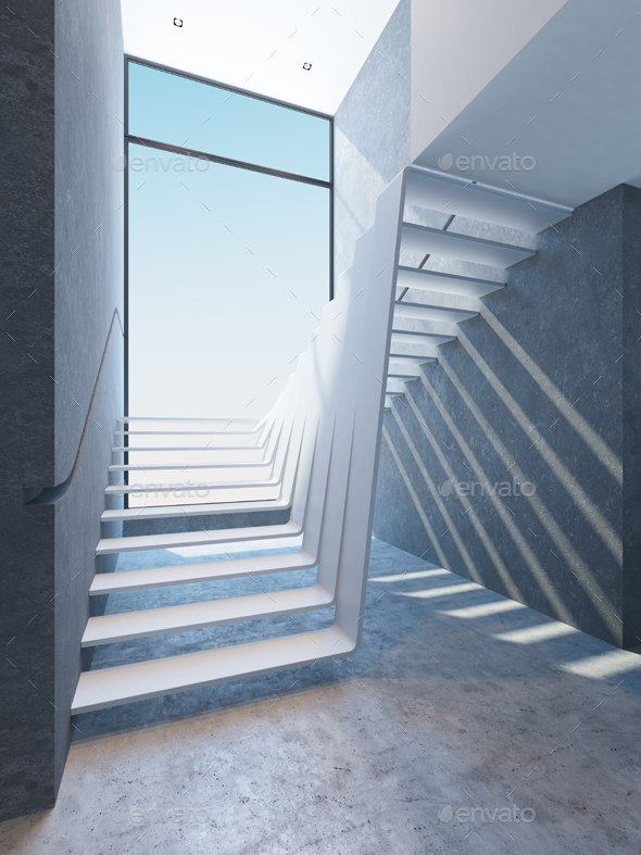 GraphicRiver Modern Stairs in Penthouse 20238195