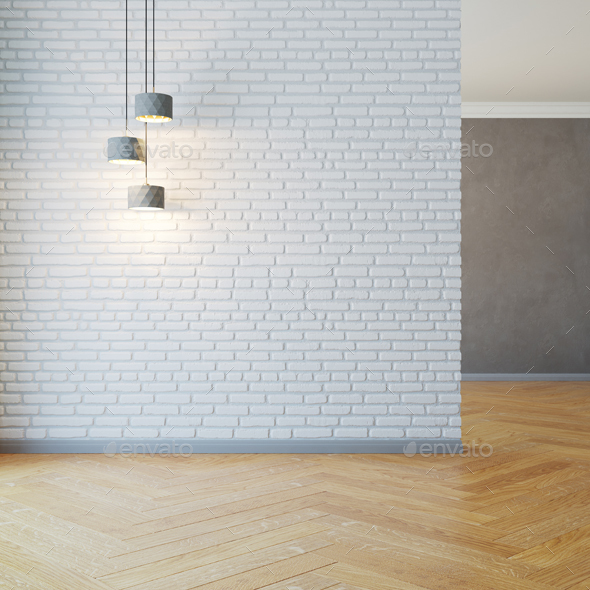 Empty Room With Lights - Architecture 3D Renders