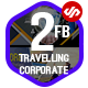 2 Facebook Cover Travelling and Corporate Business