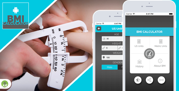 BMI Calculator for Android - Full Application with PSD - CodeCanyon Item for Sale