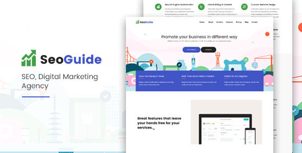 Seoguide-Digital Marketing Agency - Technology Site Templates
