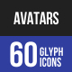 Avatars Glyph Icons Nulled