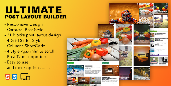 Ultimate Post Layout Builder - CodeCanyon Item for Sale