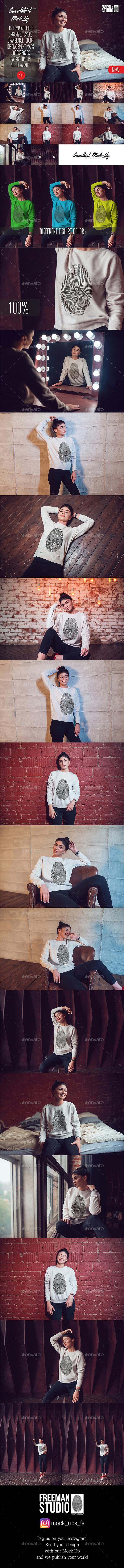Sweatshirt Mock-Up Vol.7 2017 - Product Mock-Ups Graphics