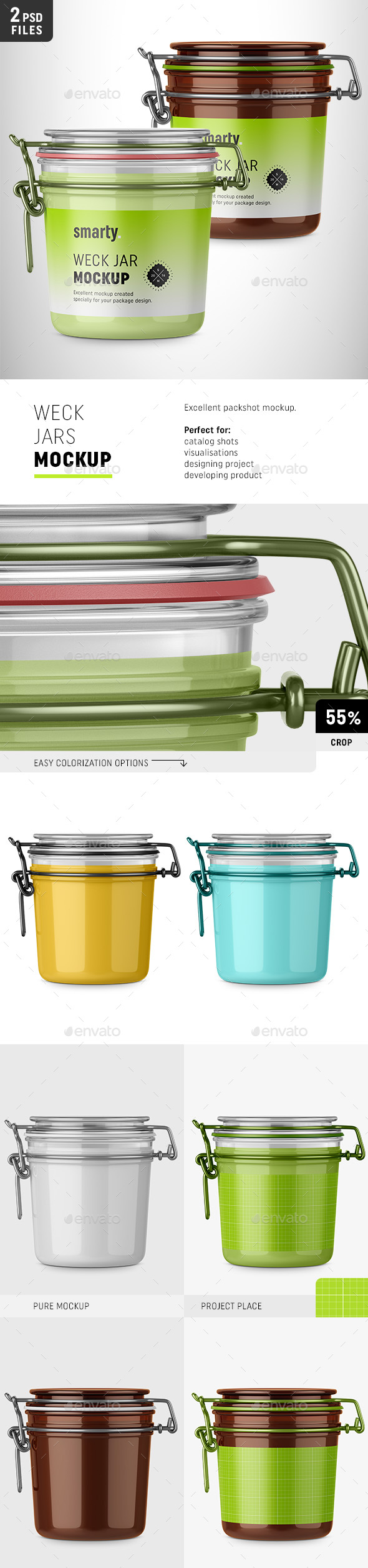 Weck Jars Mockup - Miscellaneous Packaging