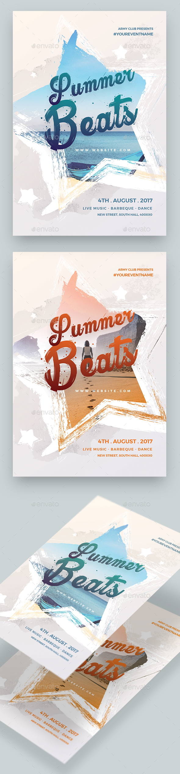 Summer Beats party Flyer - Clubs & Parties Events