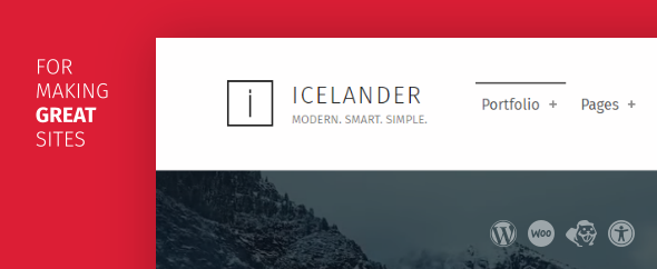 Icelander wordpress theme themeforest cover