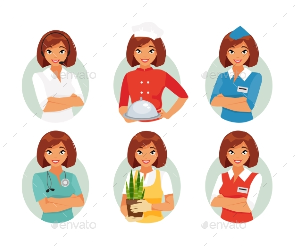 Women Profession Set - People Characters